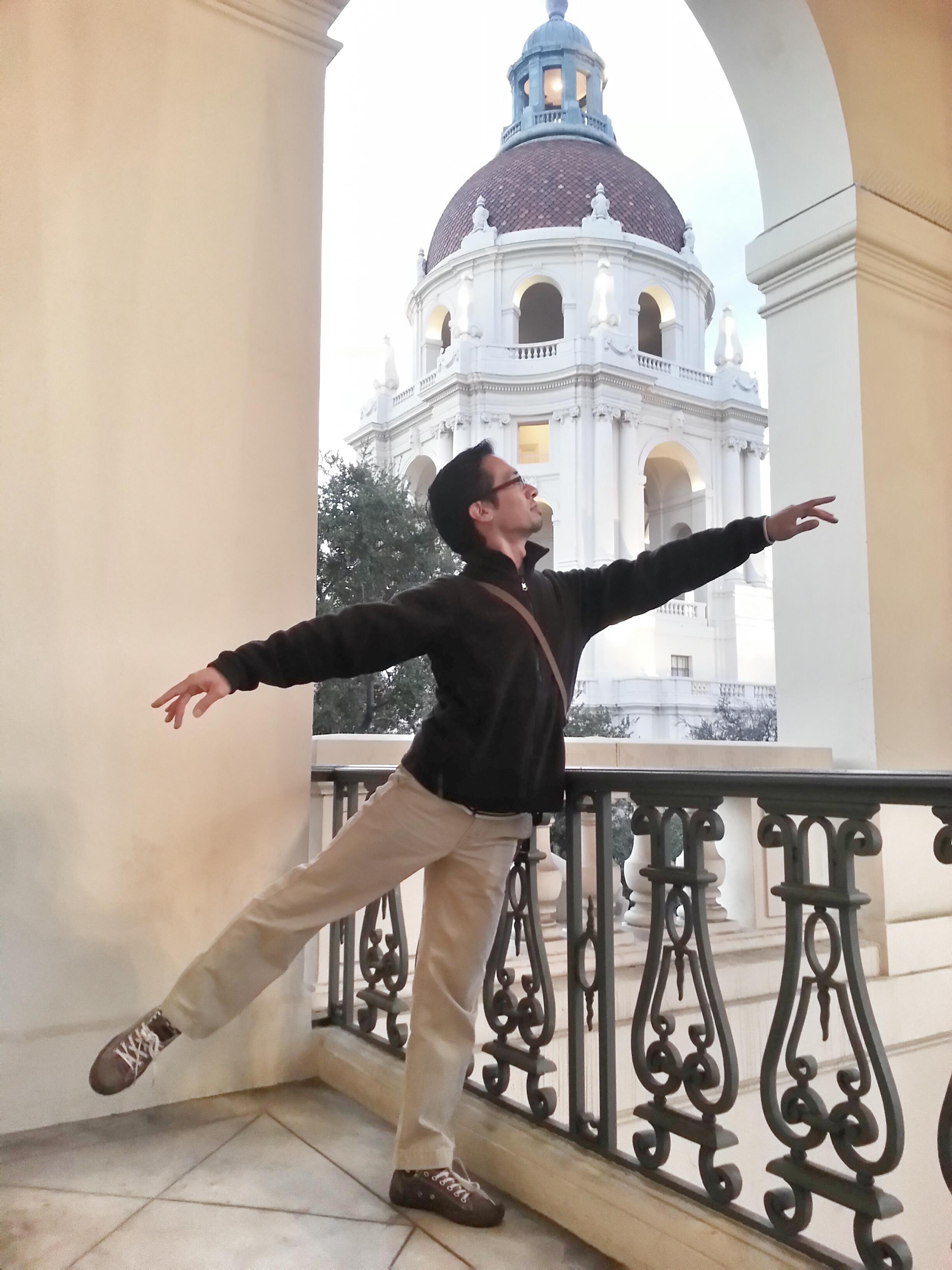 Arabesque at City Hall in Pasadena, California.